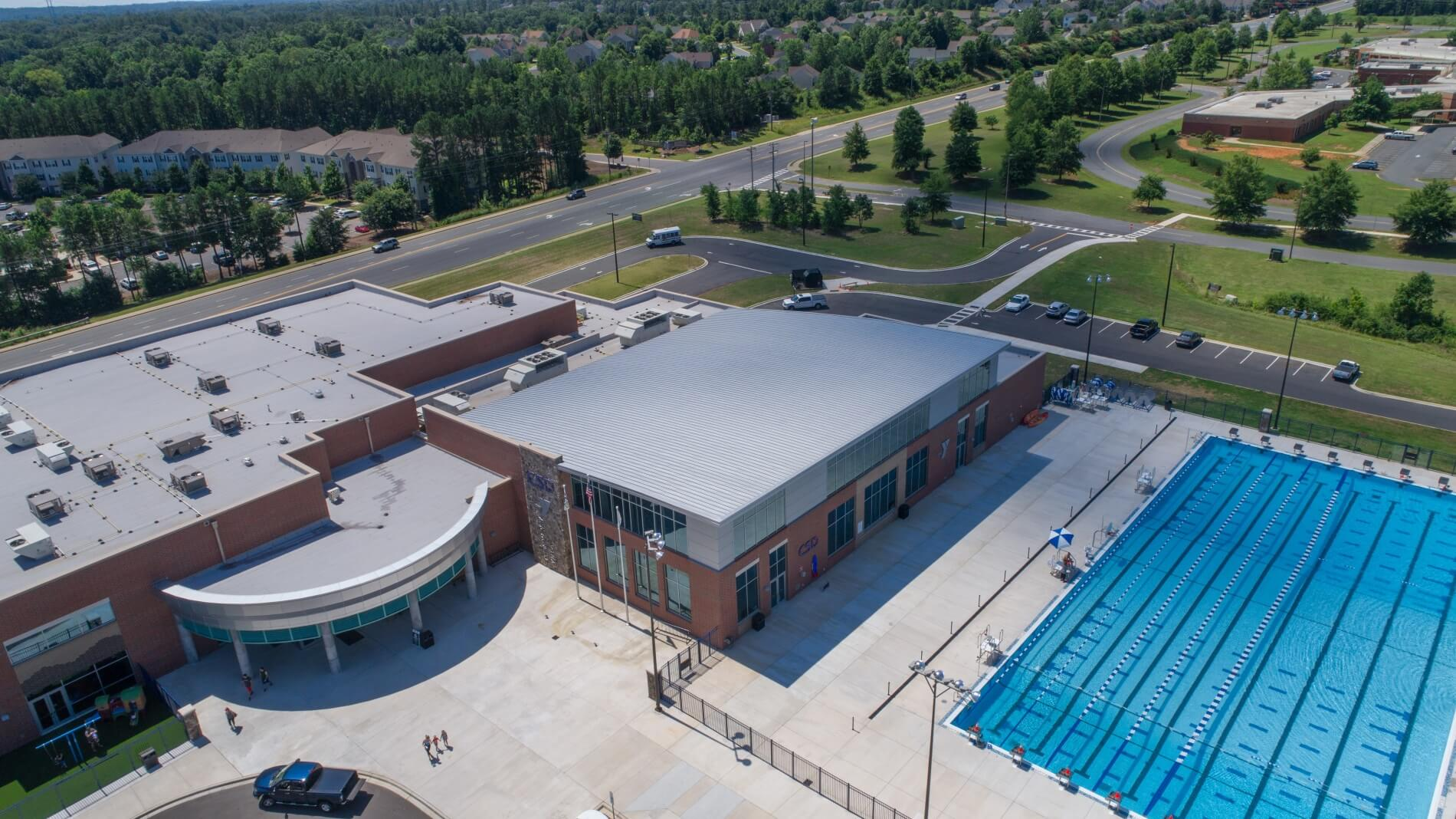 South Carolina YMCA Features Curved Standing Seam Roof by McElroy Metal