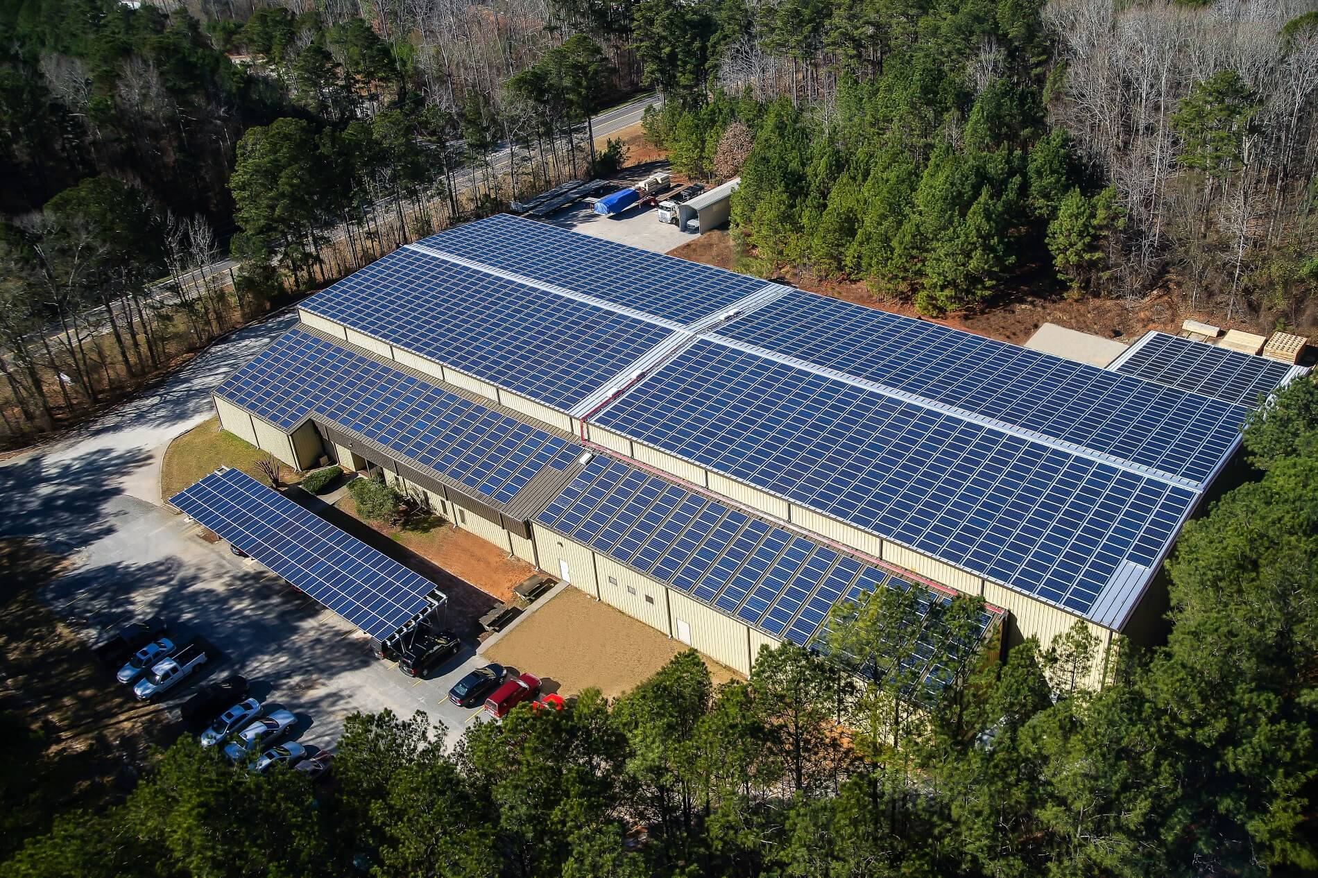 McElroy Metal re-roofs Peachtree facility, adds solar panels