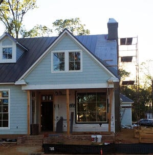 House during construction