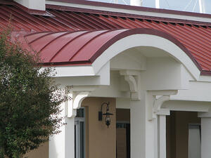 Maxima Curved Metal Roof Project