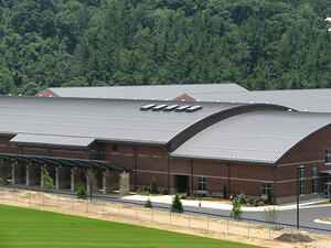 Maxima Curved Metal Roof on High School