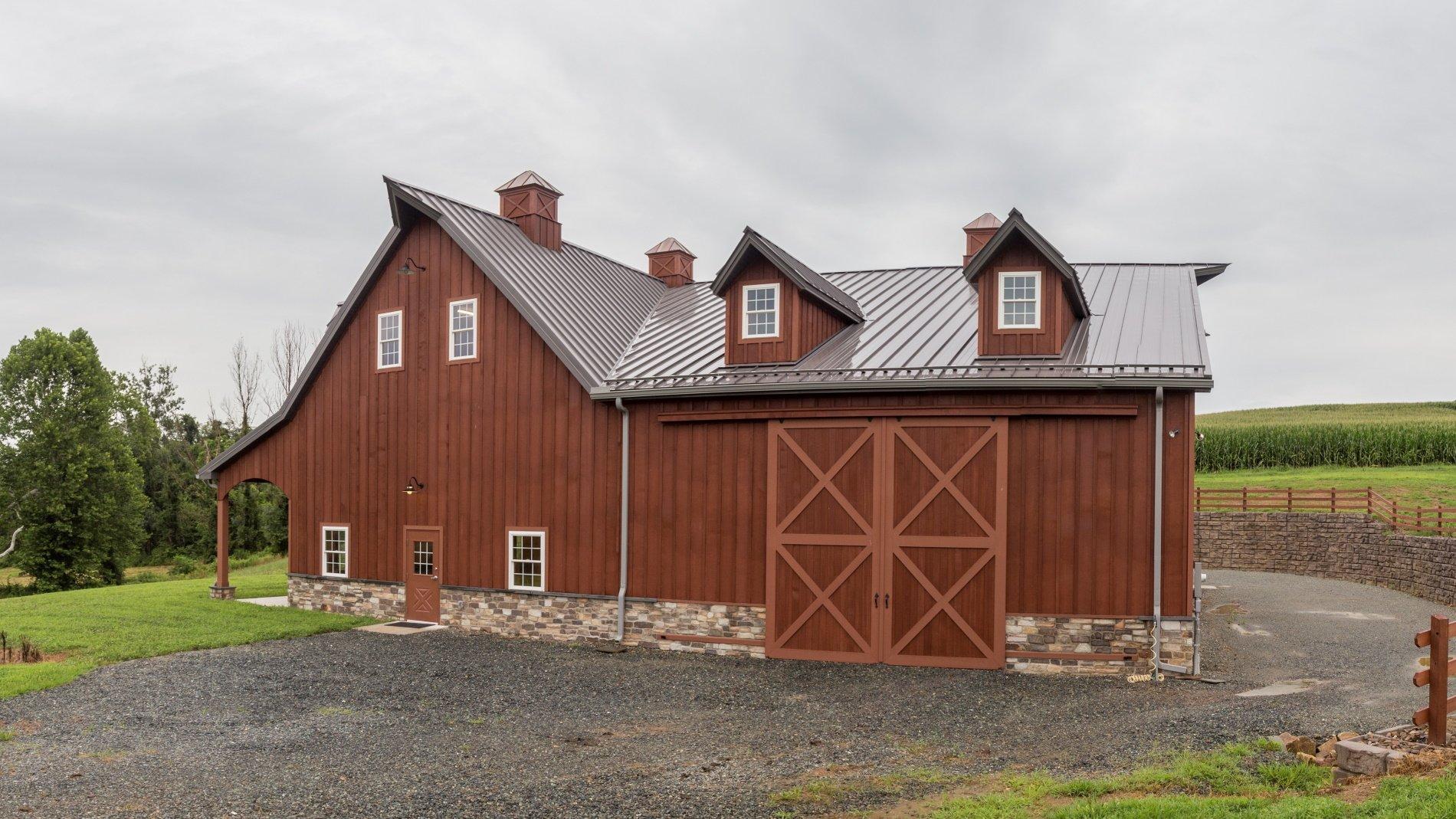 Medallion-Lok Standing Seam Roof on Custom Barn