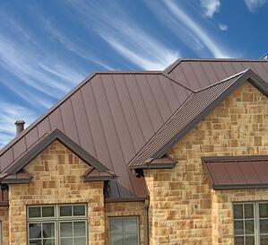 Meridian Standing Seam Roof System Installed on Home