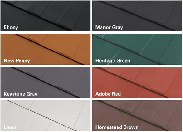 Milan steel shingle color options