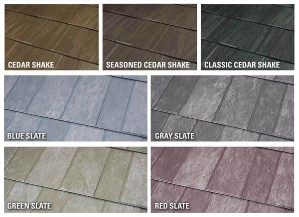 Milan Slate and Cedar Shake Metal Color Roof Options