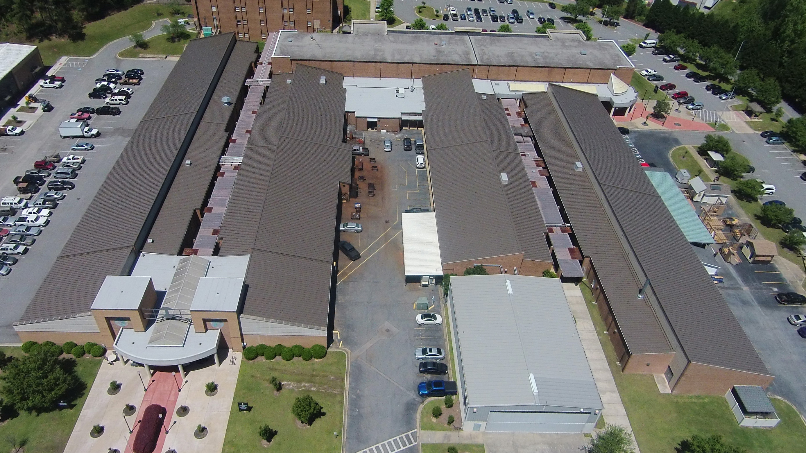 238T Symmetrical Standing Seam Panel Solves Problem for Georgia Technical College