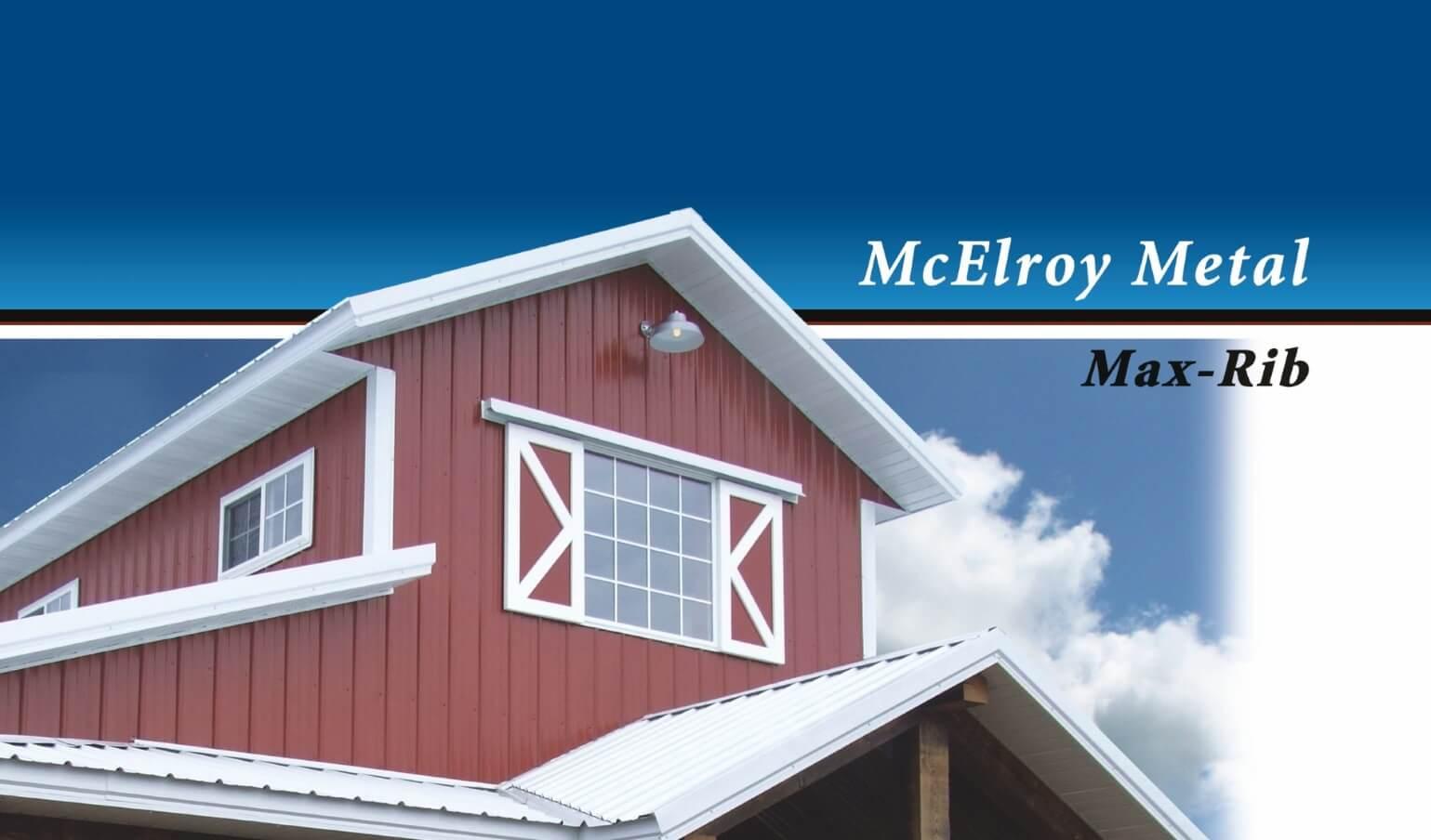 McElroy Metal releases updated Max-Rib brochure