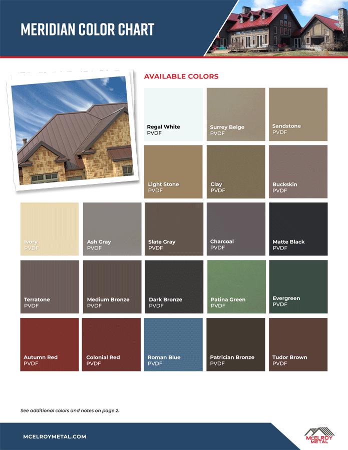 Met-Tile Metal Roof Color Options